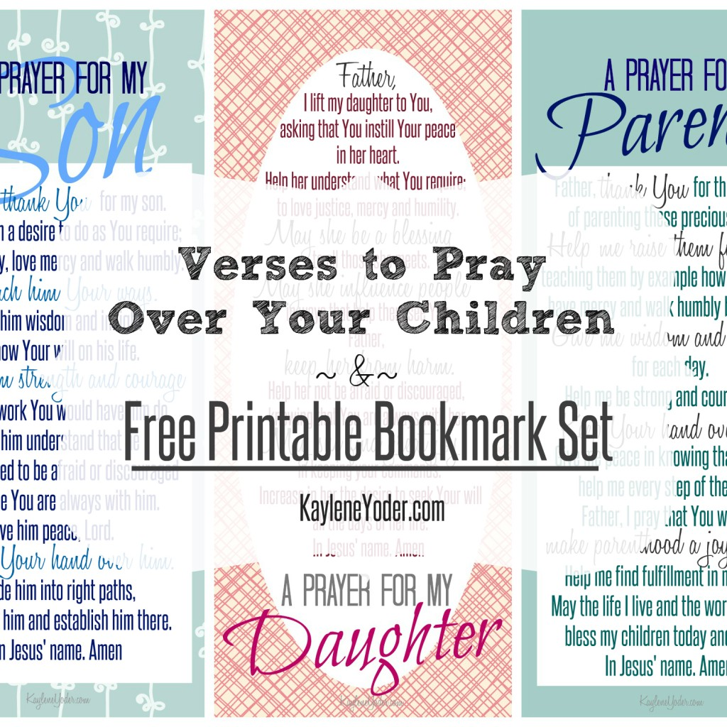 image regarding Prayer of Jabez Printable titled 5 Verses toward Pray Above Your Kids In addition Cost-free Bookmark