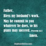 A Prayer for Your Husband's Work