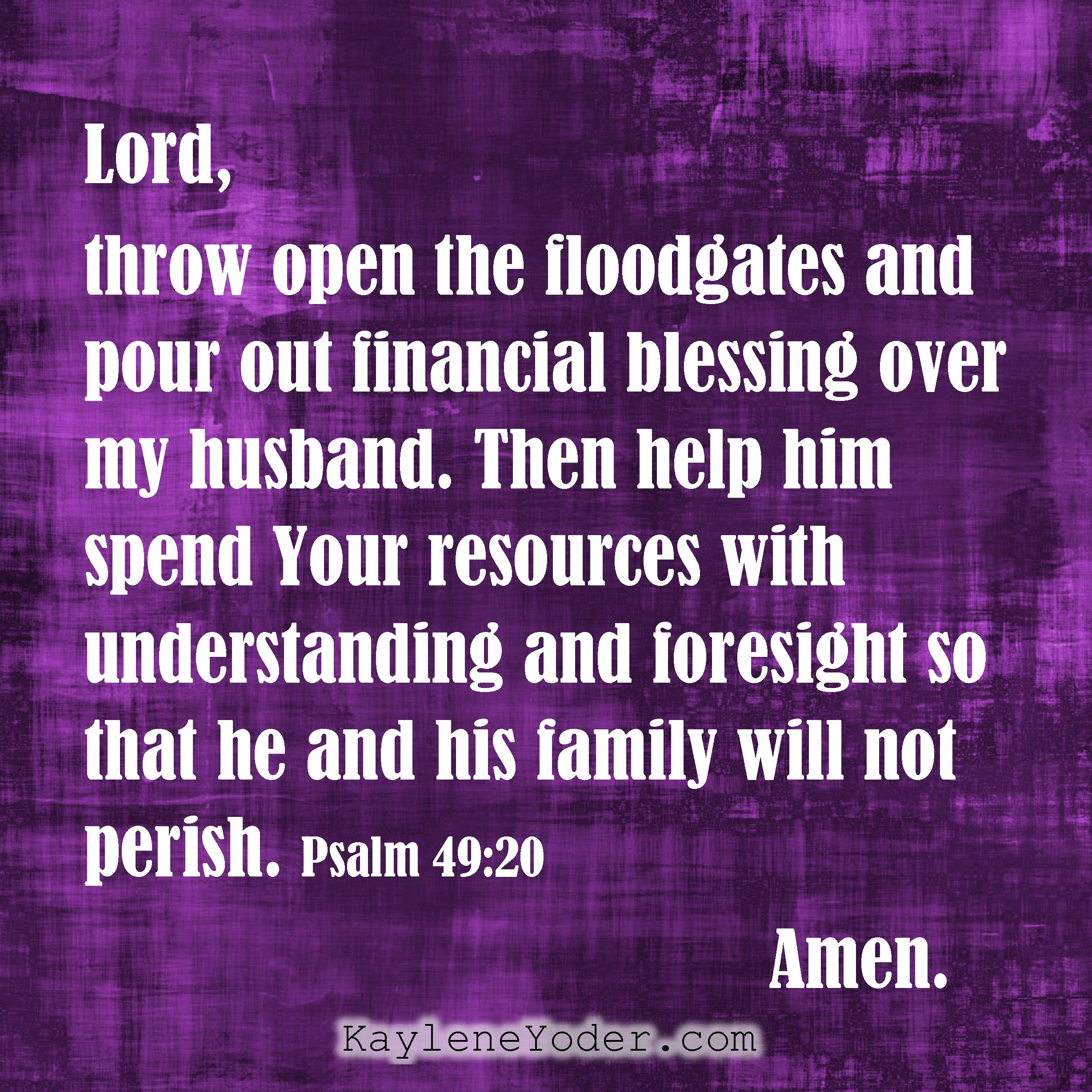 40 Prayers for my Husband: His Finances - Kaylene Yoder