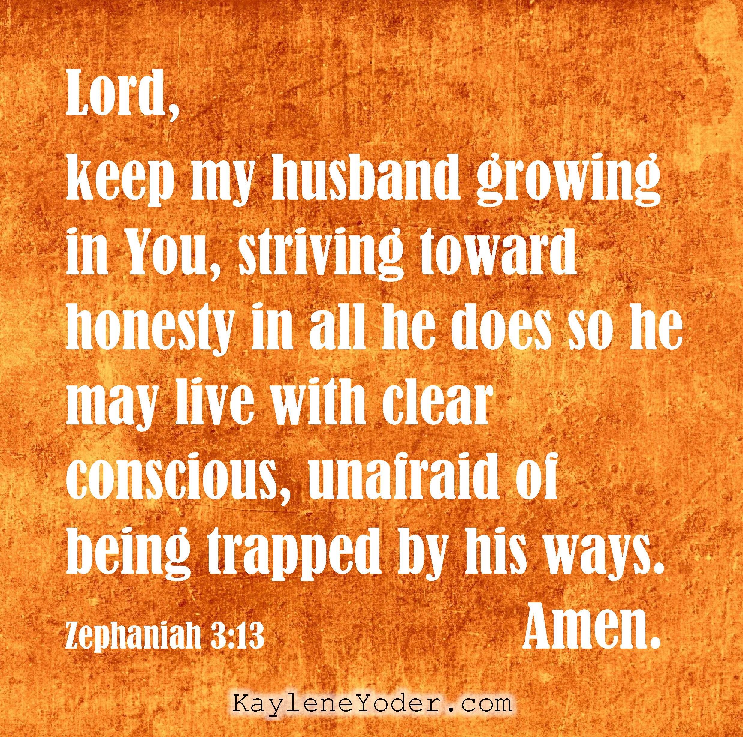 A Prayer for Your Husband's Honesty - Kaylene Yoder