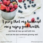 A Scripture Prayer for Your Husband's Health