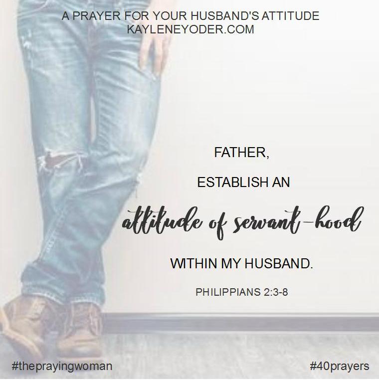 prayer for attitude