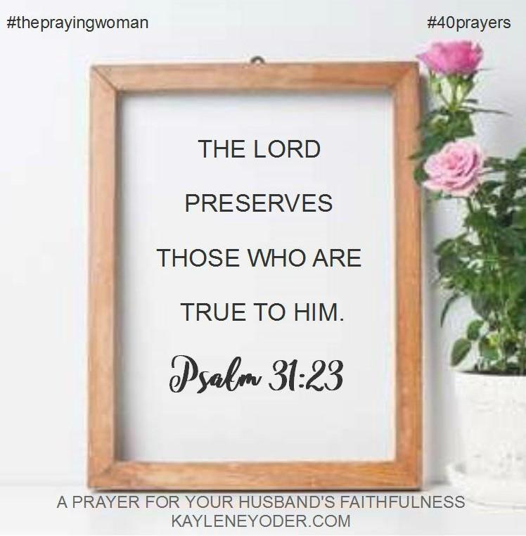 prayer for faithfulness