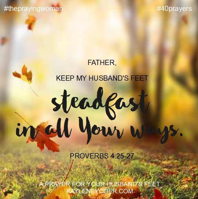 prayer for feet