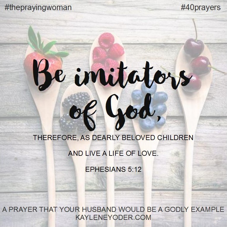 prayer for godly example