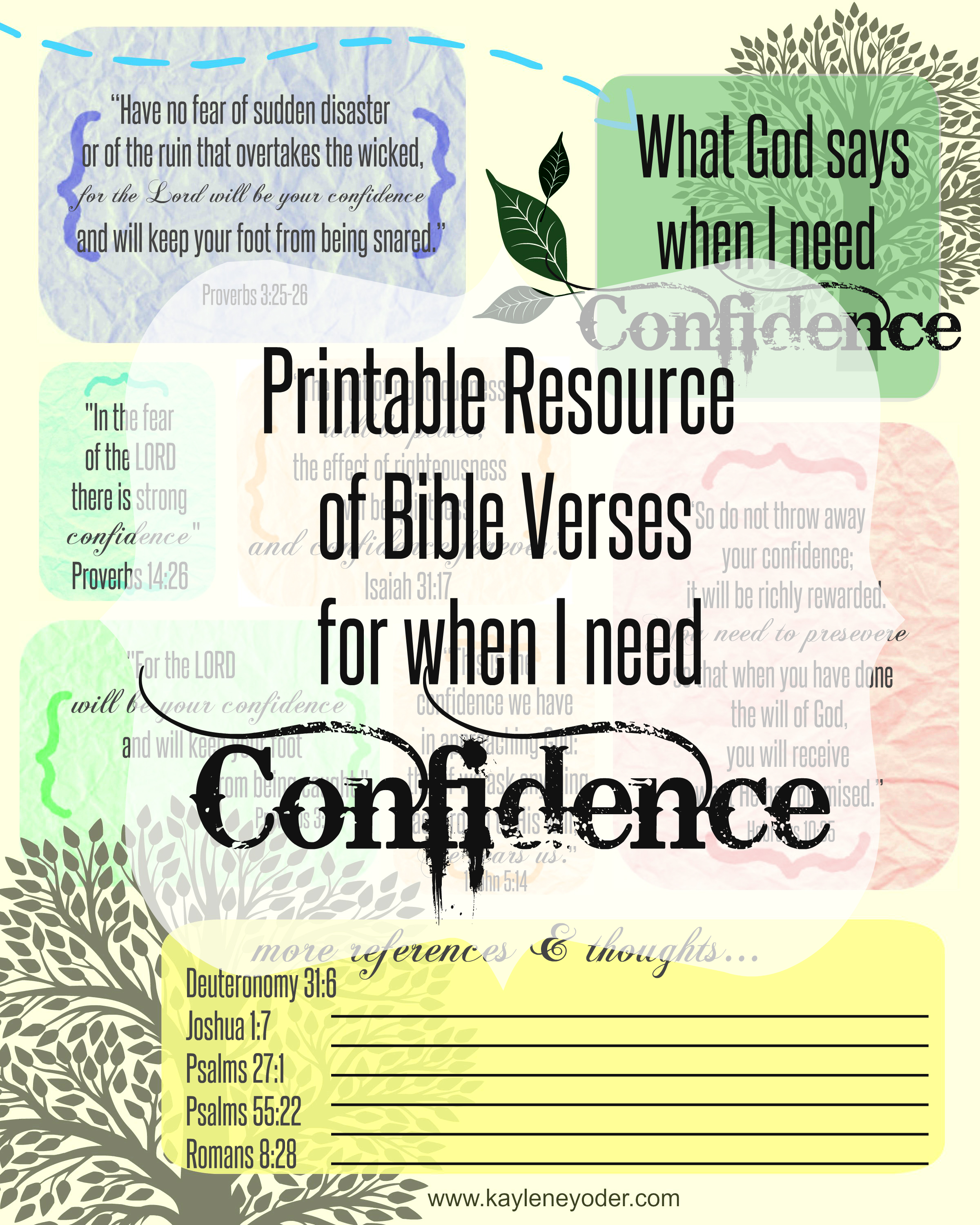 What God says when I need Confidence