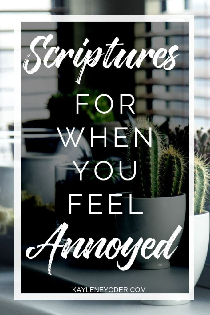 What God Says When We Feel Annoyed - Kaylene Yoder