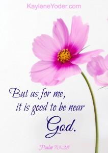 Good to be near God 2