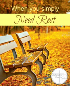 When You Simply Need Rest