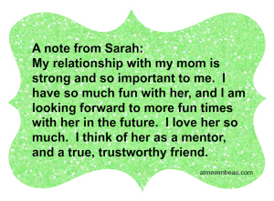 note from Sarah