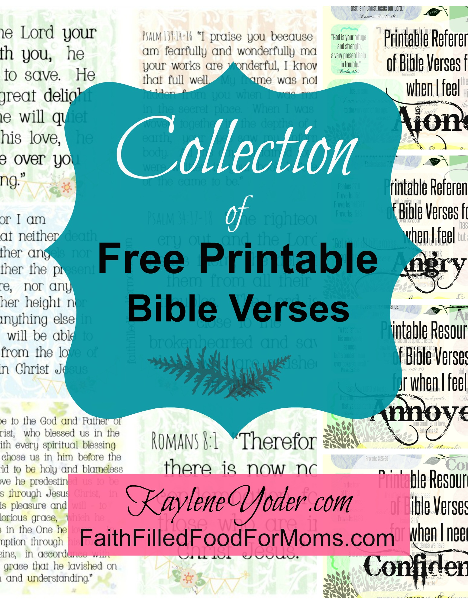 It is a photo of Striking Print Bible Verses