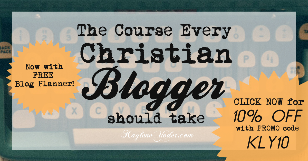 The course every Christian Blogger should take FB