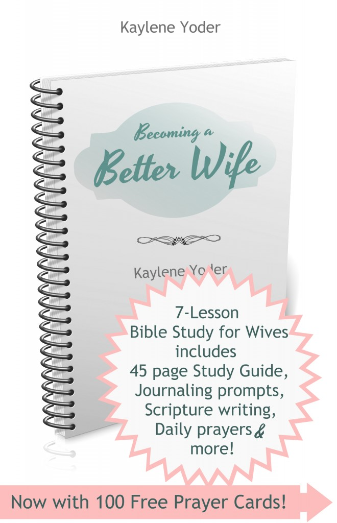 Better Wife Bible study includes 45 page in-depth study guide. PLUS 100 Free Prayer Cards!