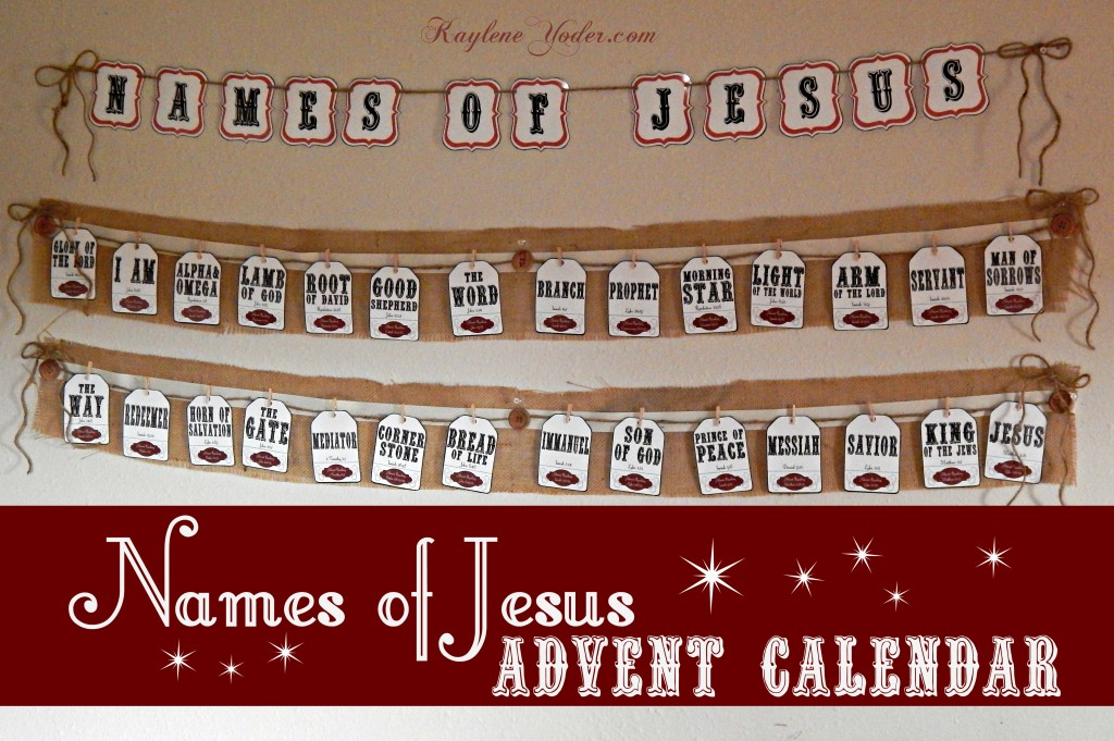 names of jesus advent calendar and christmas pack kaylene yoder