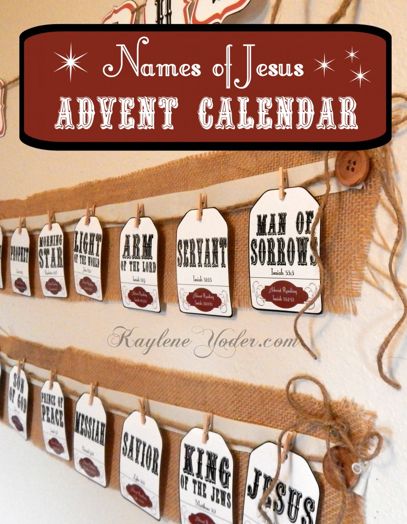 Names of Jesus Advent Calendar 4
