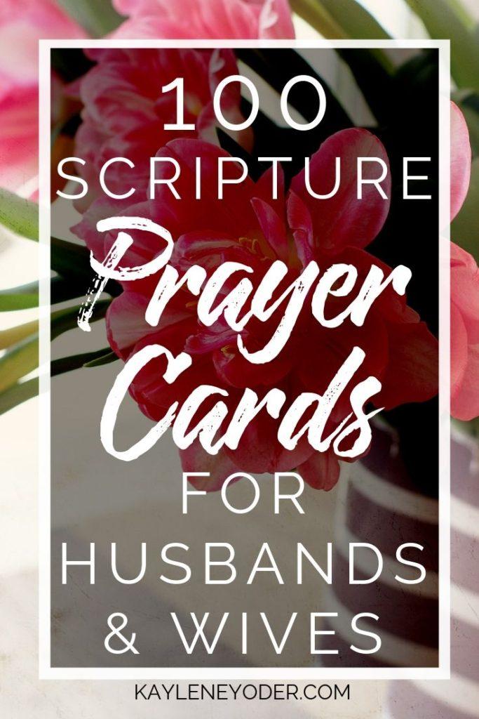 Scripture Prayer Cards for Husbands and Wives - Kaylene Yoder