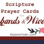 Scripture Prayer Cards for Husbands and Wives