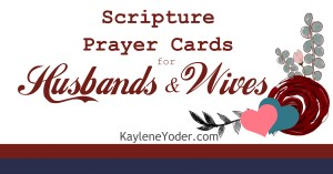 100 Scripture Prayer Cards for Husbands & Wives FB