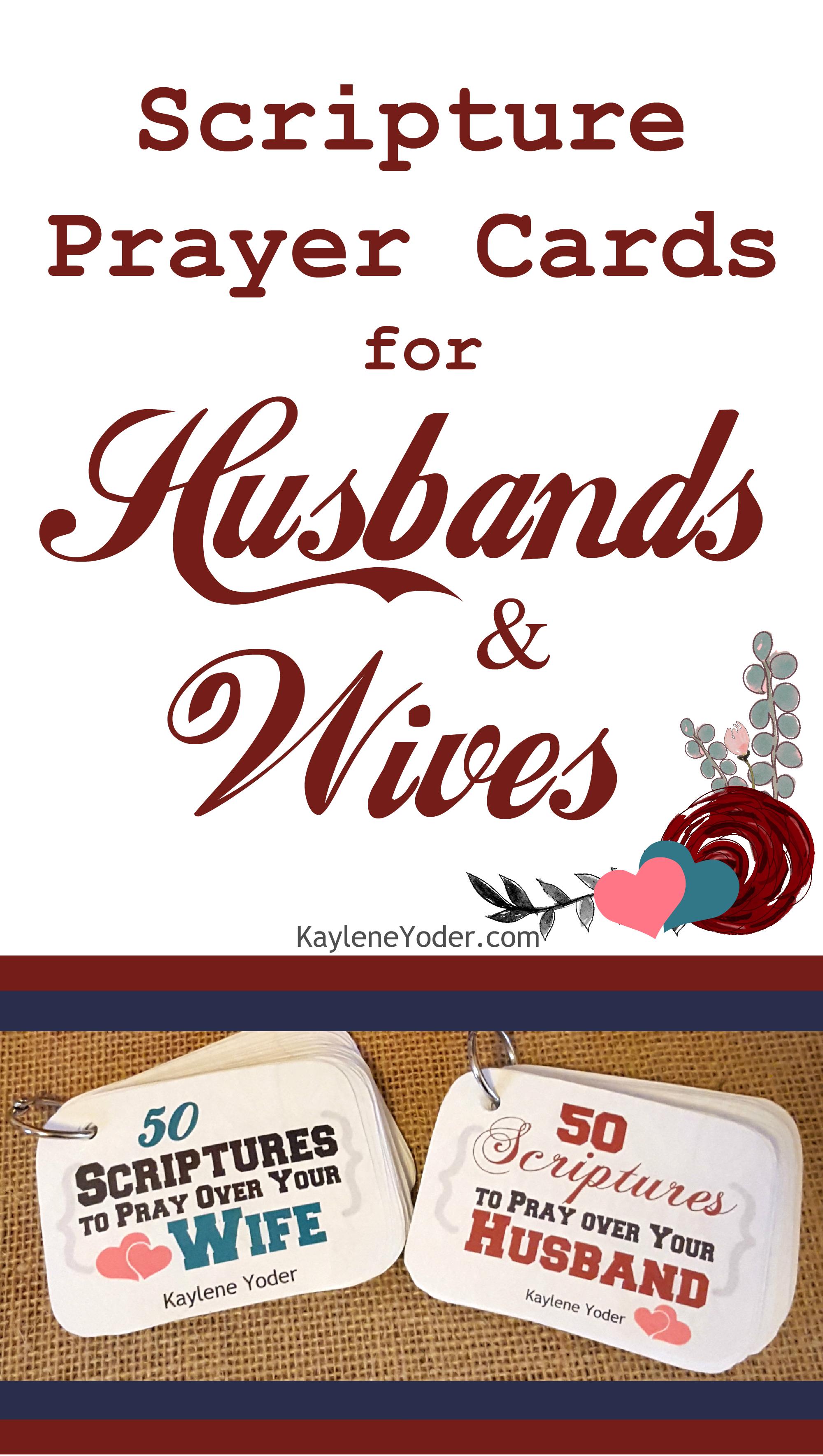 scripture prayer cards for husbands and wives kaylene yoder