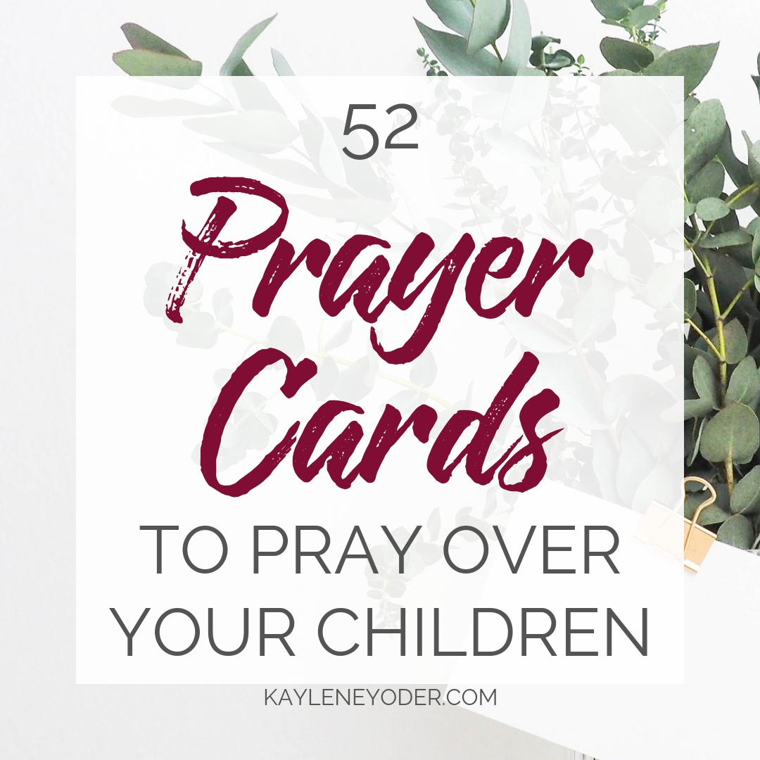 photo relating to Printable Prayer Cards called Scripture Prayer Playing cards in direction of Pray Earlier mentioned Kids - Kaylene Yoder