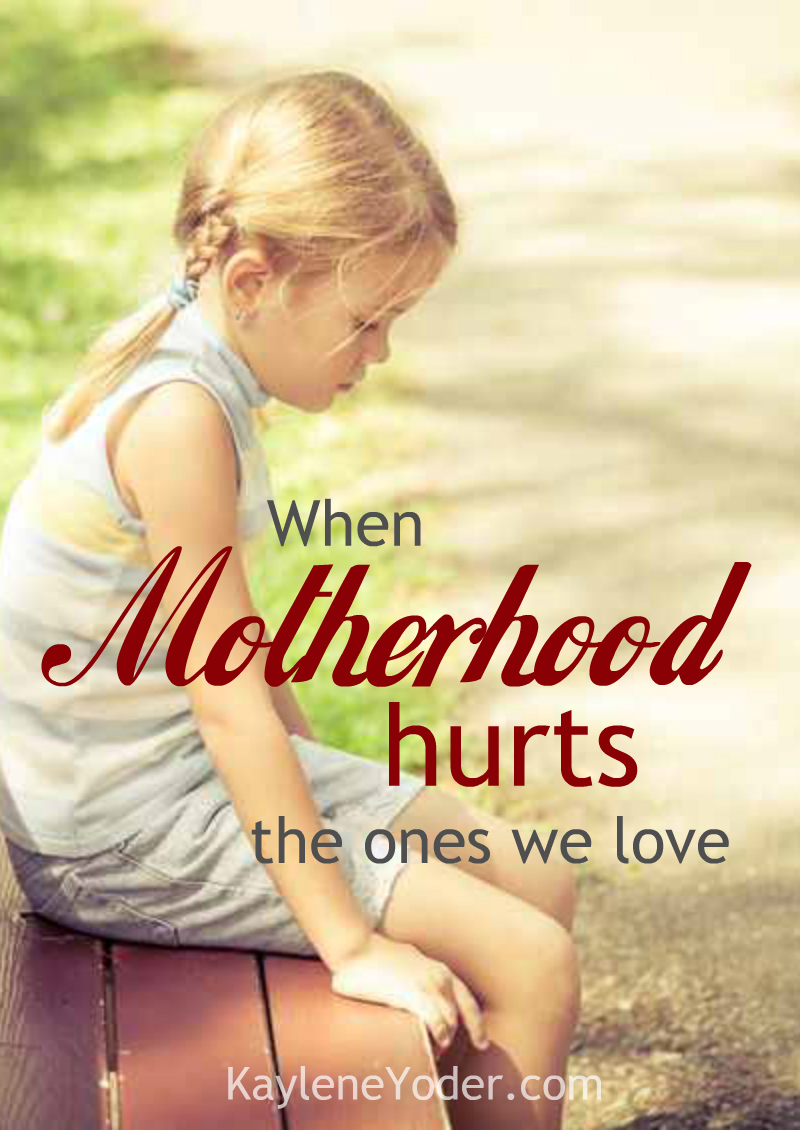 Even good moms have ugly moments. Find out how to heal and grow from those times when motherhood hurts the ones we love.