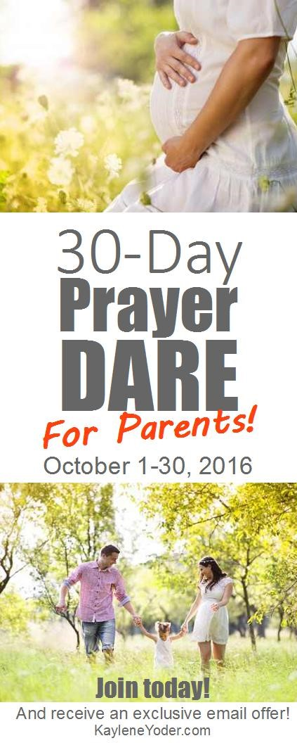 30 Day Prayer Dare for Parents