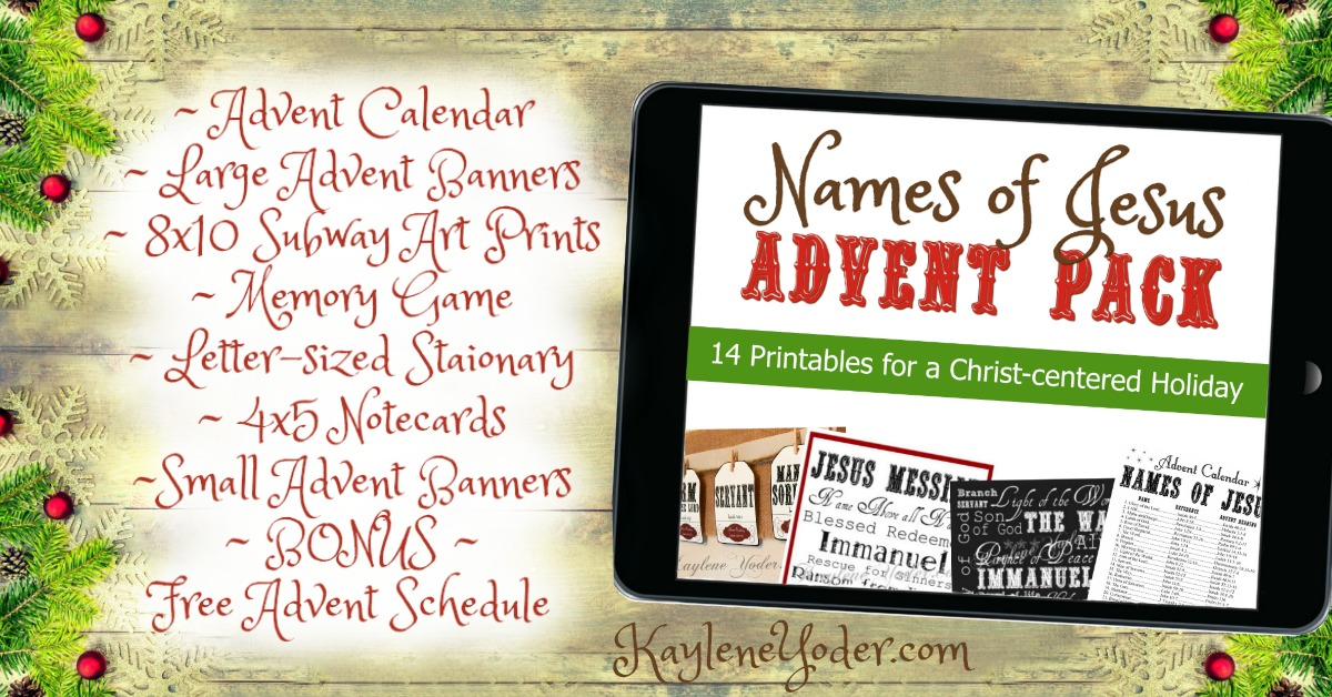 Names of Jesus advent pack FB