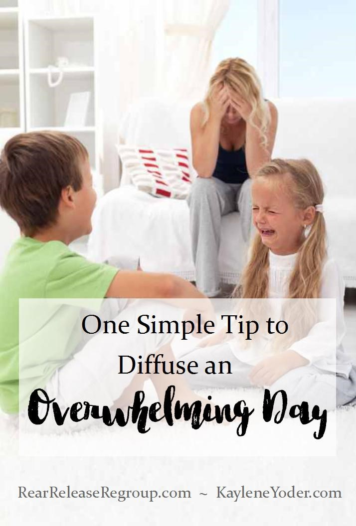 One Simple Tip to Diffuse an Overwhelming Day