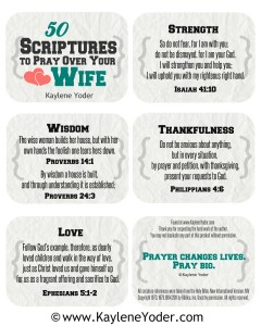 50 Scriptures to Pray Over Your Wife