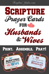 Scripture Prayer Cards for Husbands & Wives