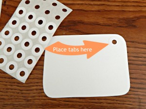 scripture card place tabs here