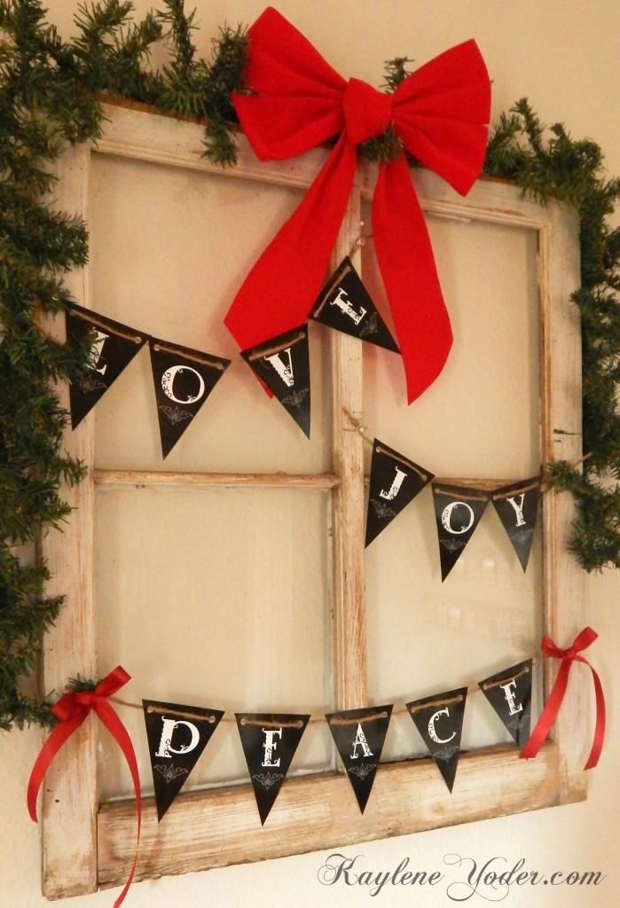 Love, Joy, Peace, Hope, Noel Banners