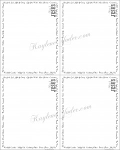 Names of Jesus Stationary Note Cards with signature